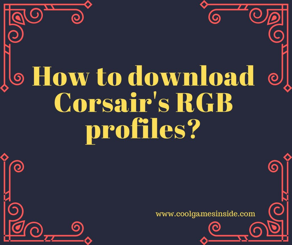 how to download RGB profiles