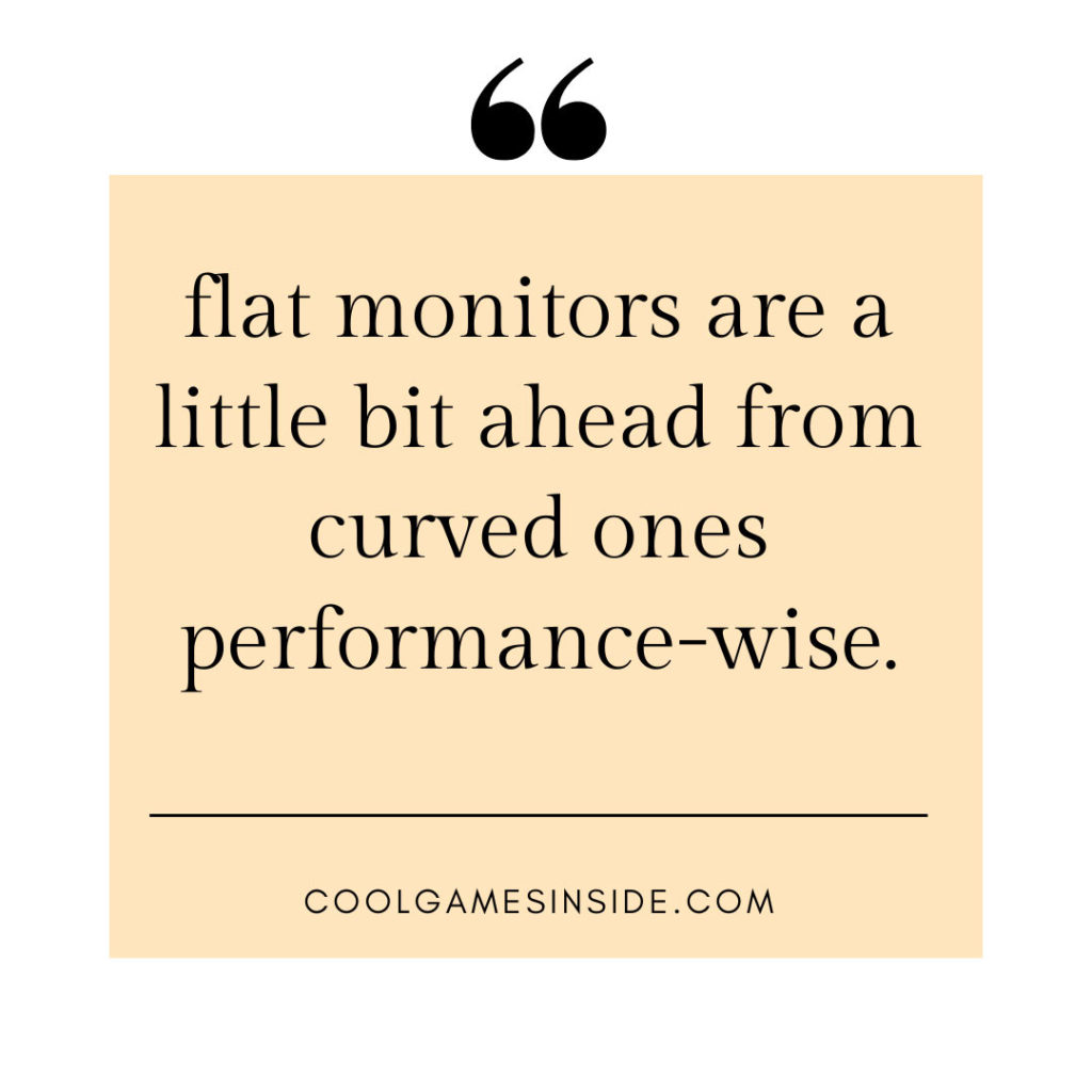 Does curved monitor make any difference?