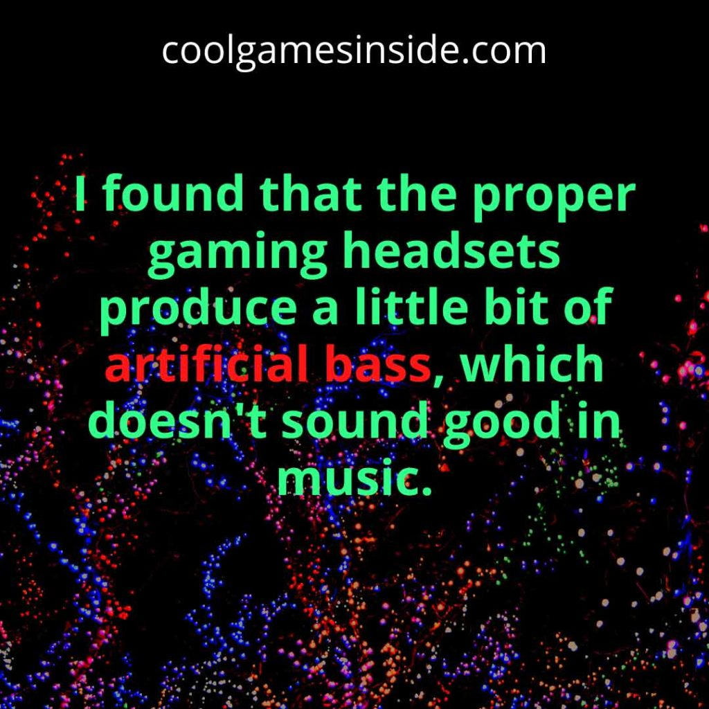 is gaming headset good for music?